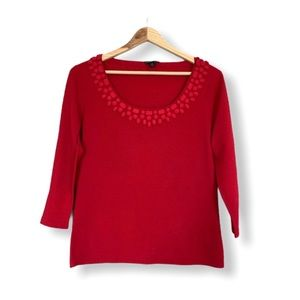 Lafayette 148 Sweater Top Knit Pullover Gems